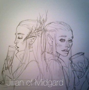 Thranduil and Tauriel  by Jillian-of-Midgard