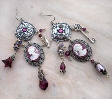 Purple Charm Earrings by Aranwen