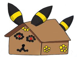 Umbreon gingerbread house by pokefan444