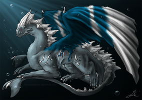 Dragon of the Deep - Gift by Arcaneillusions