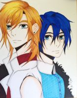 Uta No Prince-Sama: Ren  and Masato by margeaux202