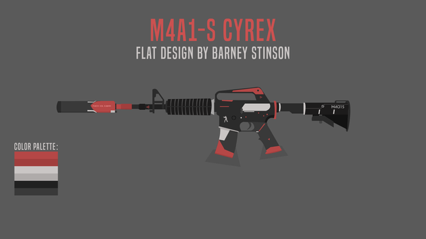 M4a1-S-Cyrex-Flat by BarneyDesign
