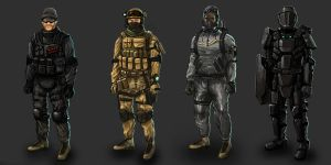 combat outfits design by weihao