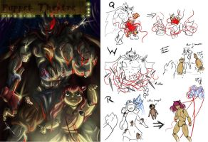 LOL-Puppet Theatre Mordekaiser with spells by Evaison