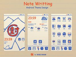 Note Writting android theme by xiaomz008