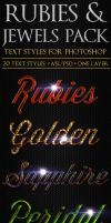 Rubies and Jewels - Text Styles by ivelt