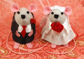 Wedding Mice by The-House-of-Mouse