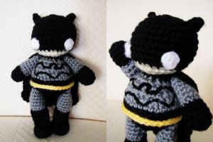 The Mini Chubby Chibi Batman 1 by hellohappycrafts