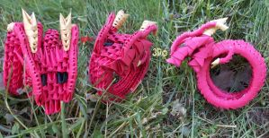 3D Origami - Eastern Dragon by Jobe3DO