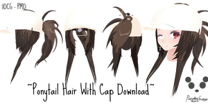 .: [3DCG-PMD] MMD Ponytail Hair w/ Cap download :. by PandaSwagg2002
