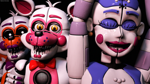 Funtime Foxy And Ballora (SFM FNAF) by TheSitciXD