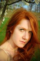 Windy Spring Day Natural Redhair by angelsfalldown1