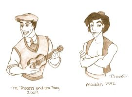 Naveen and Aladdin by Thalael-Eilaer