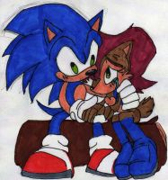 Sally and Sonic 2 - Colored by dragonheart07