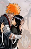 Bleach- Ichigo and Rukia by WiL-Woods