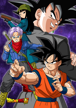 DB Super poster Goku Black saga by SergioFrancZ