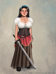 elf girl with a sword by clc1997