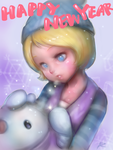 iPad finger drawing _ Chibi Winter Wonder Orianna by ptcrow