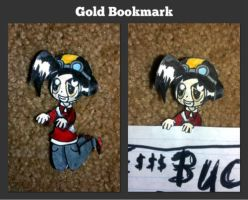 Gold Bookmark by Rawrshiram