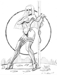 Stripper Illyana by MichaelPowellArt