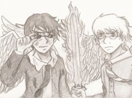 Good Omens: Facing Apocalypse by midnight-cookie