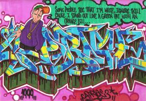 Slim Shady Graff by JohnVichlenski