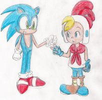 Sonic vs. Billy Hatcher- Rock Paper Scissors by LilacPhoenix