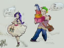 Shopping with Rarity by Nanune13