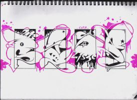 Pink vs Black... by Case03