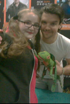 Andrew Lee Potts and Harley Quinn by Squwerty