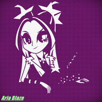 Outlined Icon 2: Aria Blaze by QuanXaro