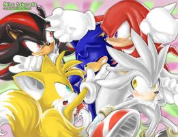 Sonic :: Sonic a popular guy by AkiruNyang