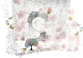 ENGLISH COUNTRY GARDEN PREMADE BACKGROUND by Vee-Deviant