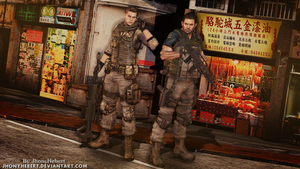 Chris and Piers - Resident Evil 6 by JhonyHebert