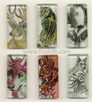 Sumi Glass Pendants - Group 5 by Foxfeather248