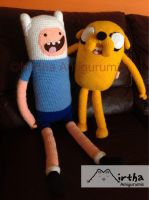 Finn and Jake Adventure Time amigurumis by MirthaAmigurumis