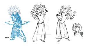 Merida Sketches by buttercupLF