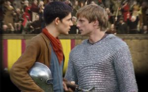 Merthur in the Jousting Ring 1 by EmrysDragonlord