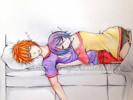 Ichiruki Week Day 7: Napping by BitterSweetNitemare
