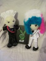 G-Dragon and T.O.P Plushies by SubterraneanTV