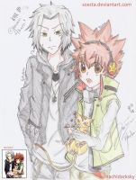 Tsuna, Gokudera, and Uri by ScezTa