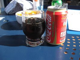 THE GLASS AND THE COKE -insert excalmation marks- by thedarkestkey575757