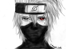 Kakashi crying over Obito by c0reja