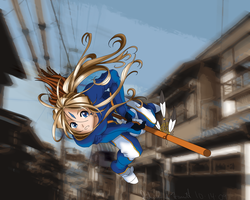 Belldandy racing Stringfellow by gdfcommander