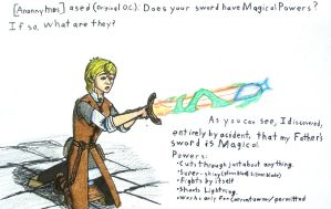 OC Kevlron Q #1: Sword's Magical Powers by Supajames1
