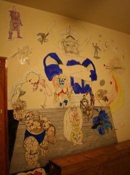 full wall drawings on my wall when younger by chicago-icee