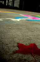 chalk by tape-roll