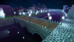 Medieval city of magicians at night 2015-05-08 by Gaonirico