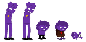 Purple Guy / Vincent Homestuck Sprites by Kziira