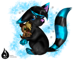 Point Commission:  Icee and plushie Chee by Venetia-the-Hedgehog